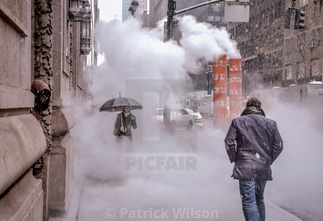 """Smoke in New York City"" stock image"