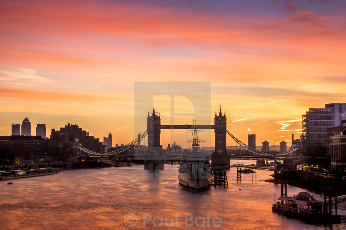 """Good Morning London"" stock image"