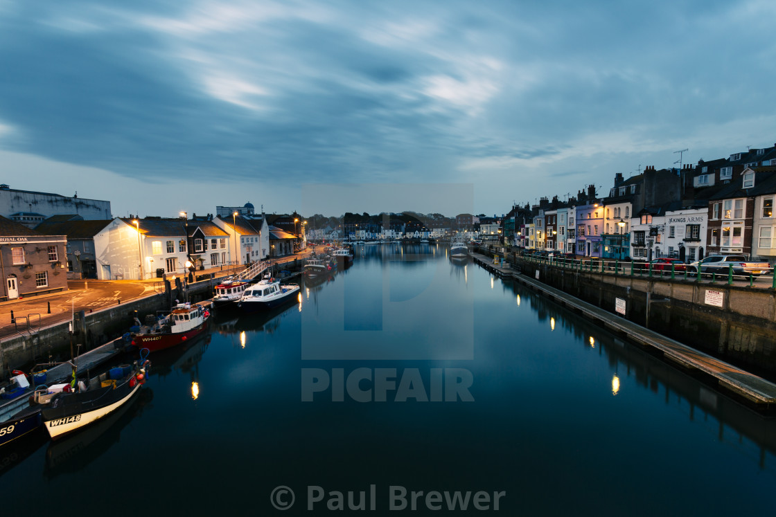 """Weymouth Harbour"" stock image"