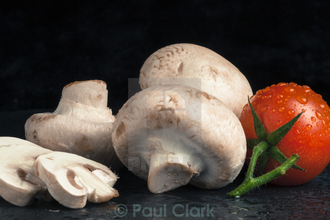 """Mushroom and Tomato"" stock image"