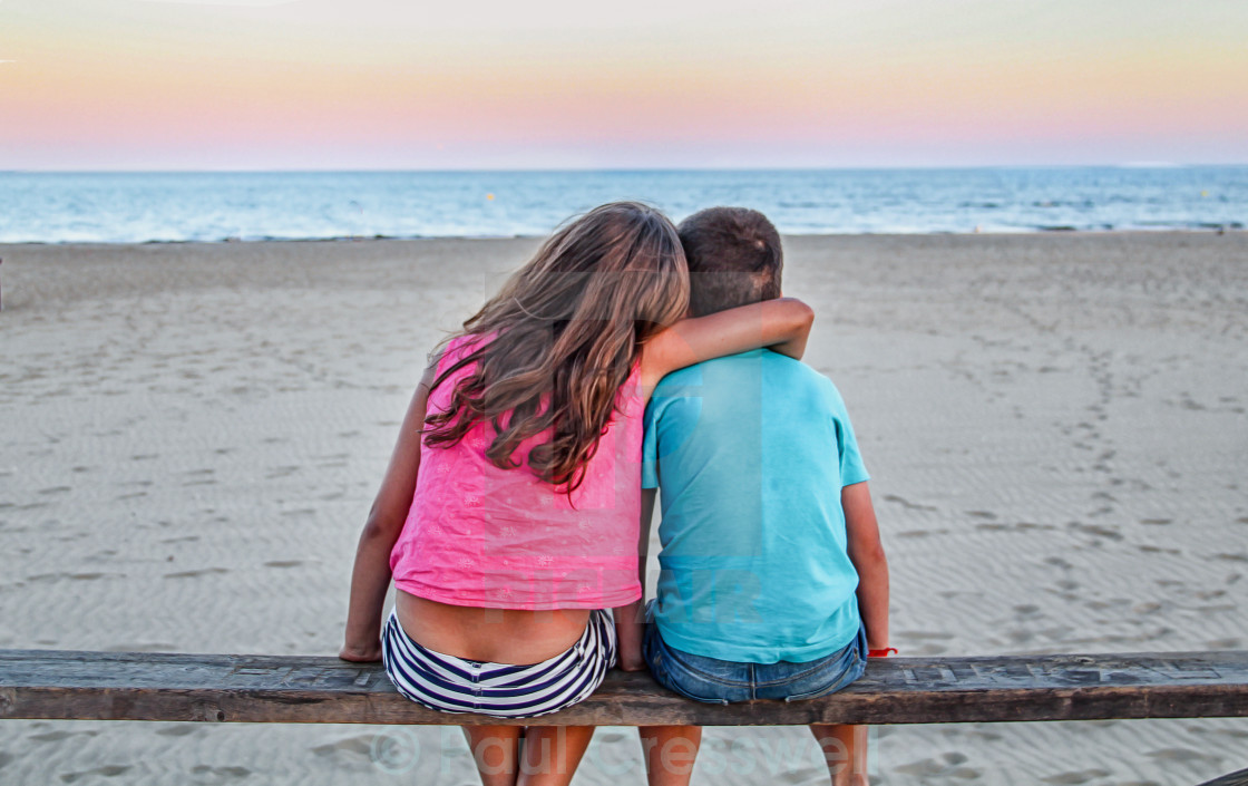 """Kids on the Beach"" stock image"