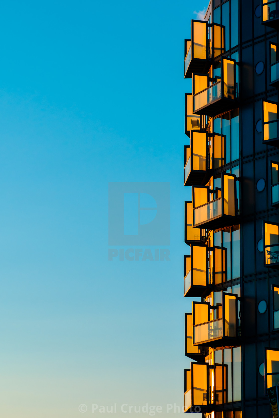 """Salford Sunset"" stock image"