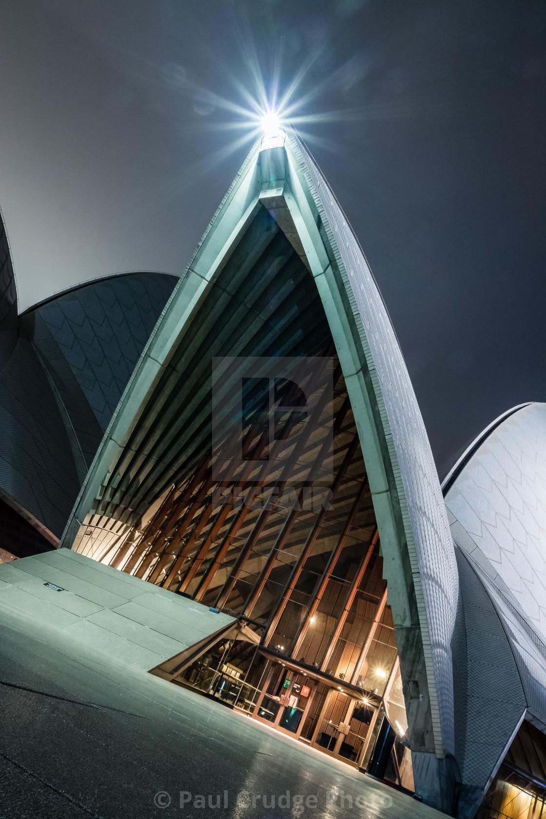 """Sydney Opera House at Night 3"" stock image"