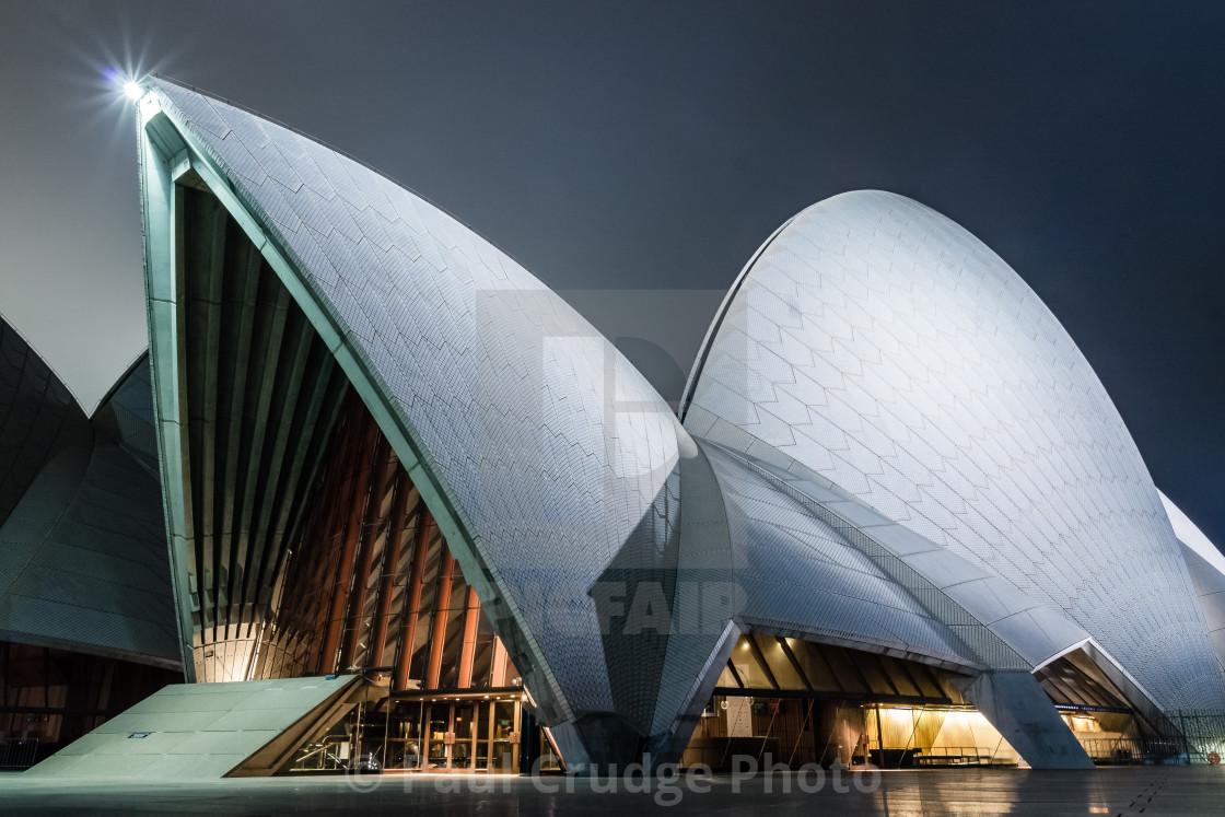 """Sydney Opera House at Night 1"" stock image"