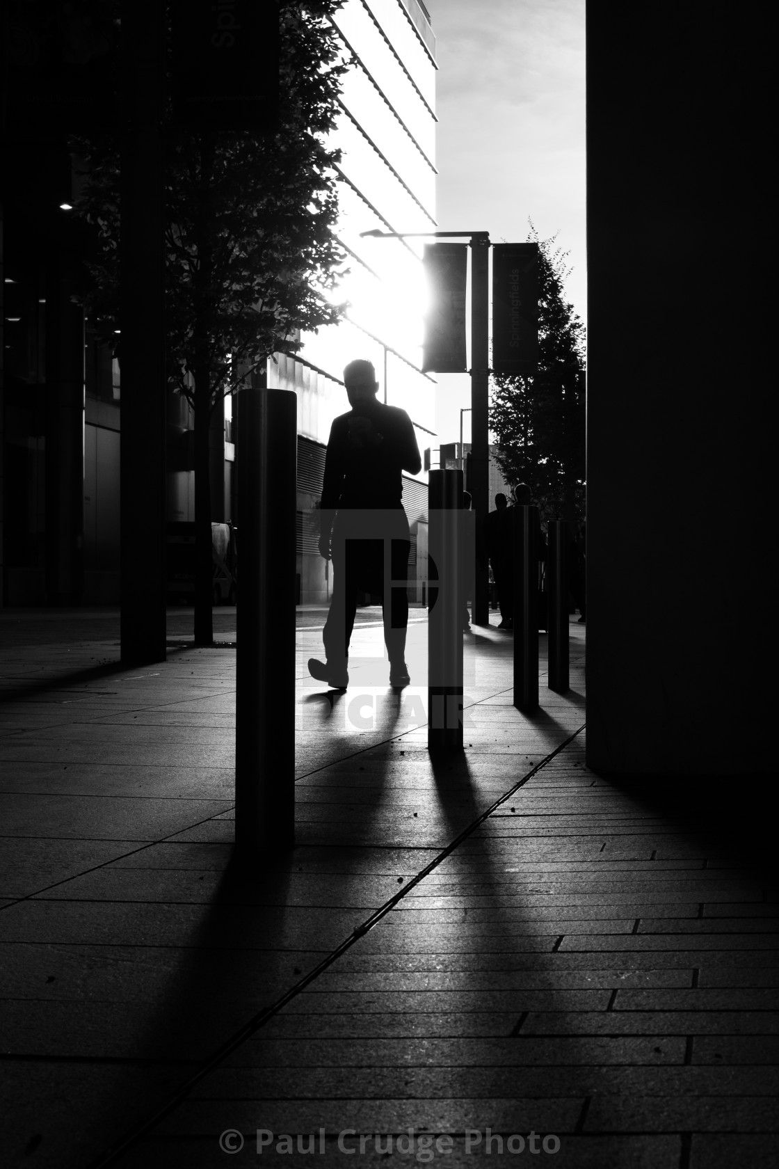 """Spinningfields Silhouette"" stock image"