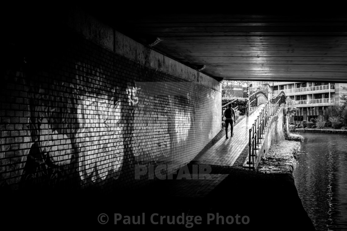 """Castlefield Walker"" stock image"