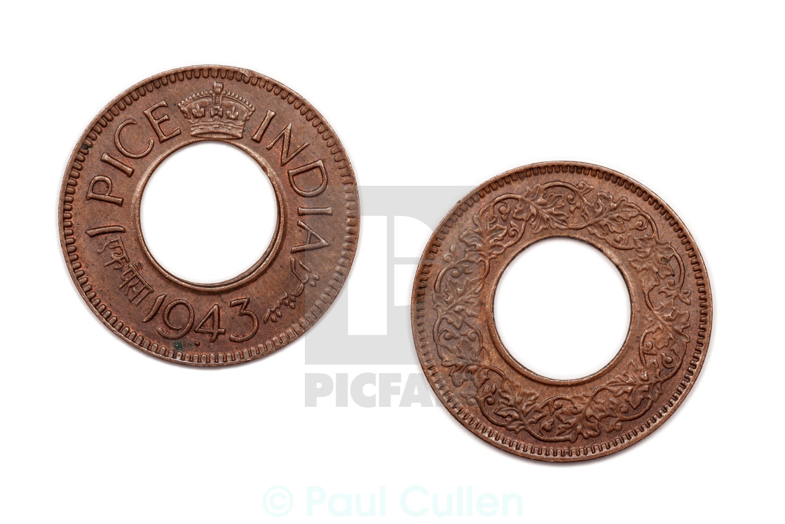One Pice coin India 1943 - License, download or print for
