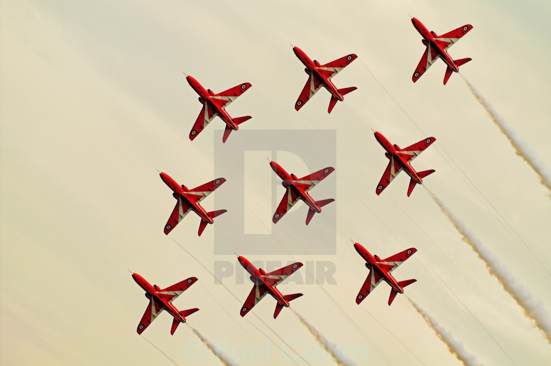 """Red Arrows Display Team 2006"" stock image"