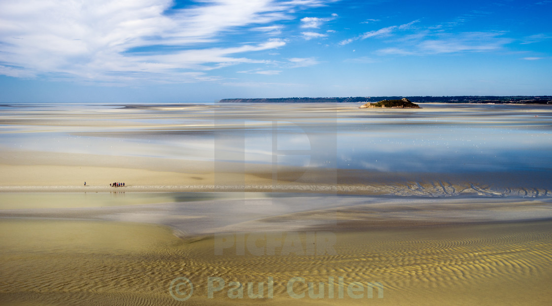 """""""The Bay of the Mont Saint-Michel - tide out."""" stock image"""