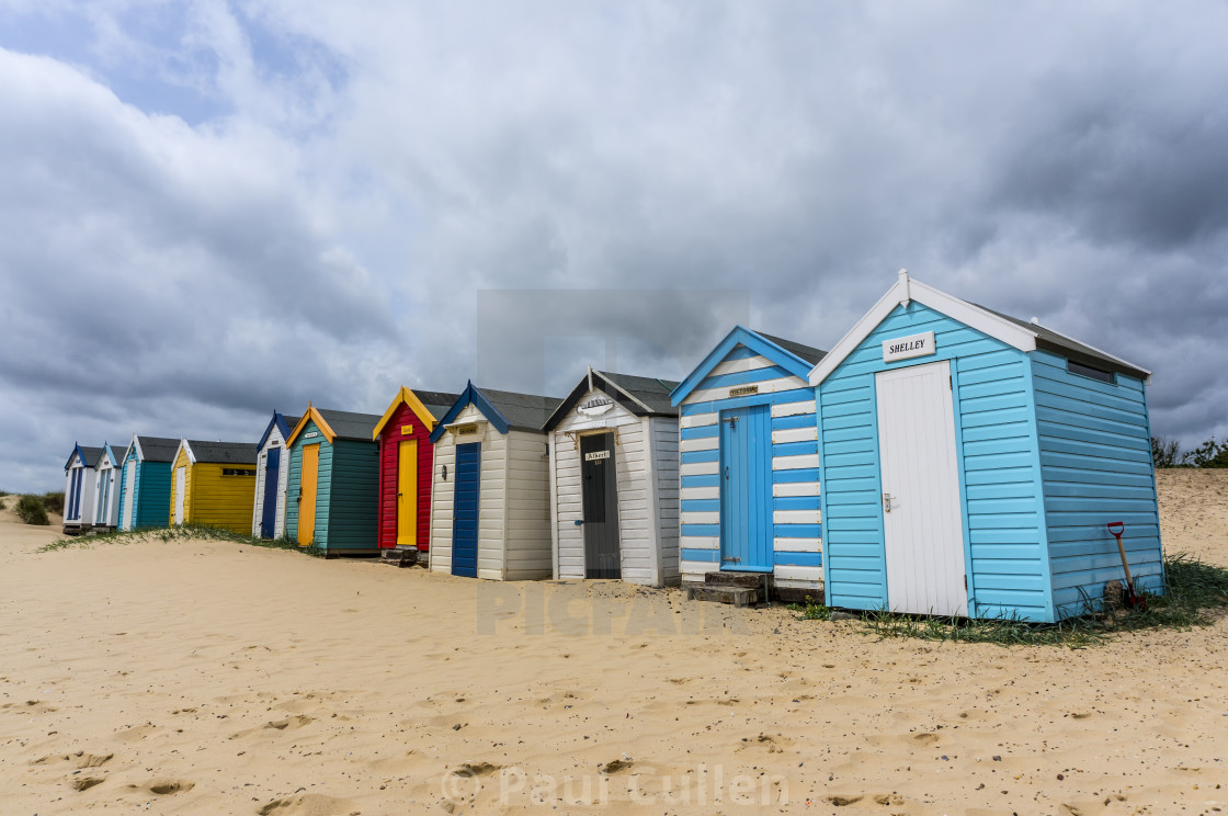 """Southwold Beach Huts."" stock image"
