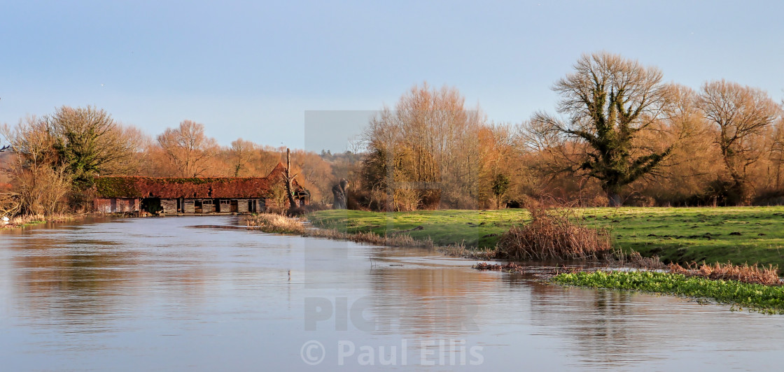 """Salisbury Sluice and Eel Trap"" stock image"