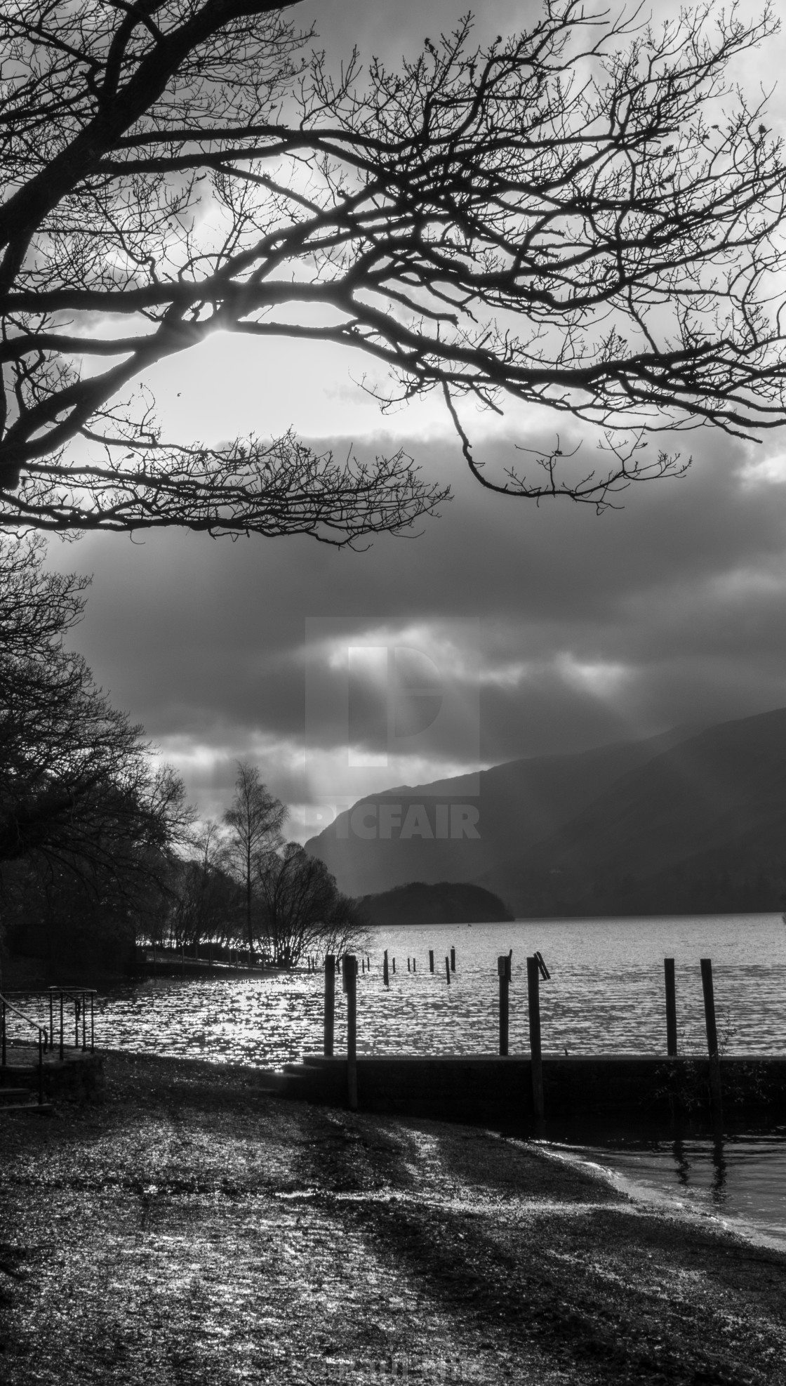 """Derwent Water Dramatic Sky"" stock image"