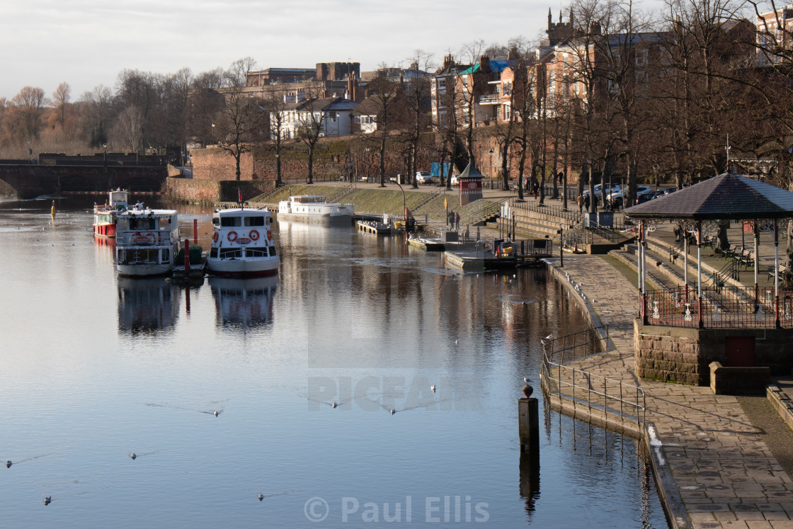 """""""The Dee at Chester"""" stock image"""