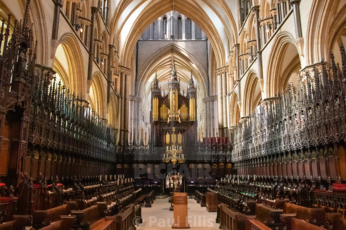 """Lincoln Cathedral Quire"" stock image"