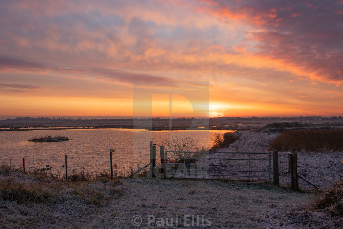 """Marshside Sunrise"" stock image"