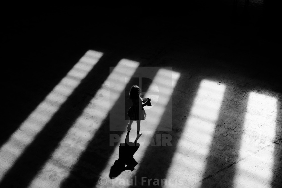 """Silhouette of child"" stock image"