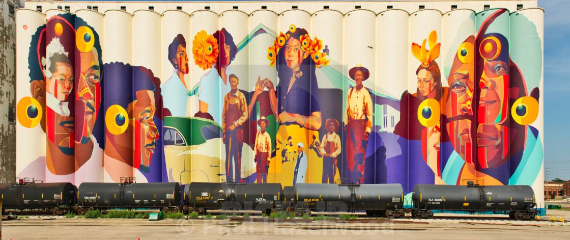 """Horizontes Project Gigantic Mural"" stock image"