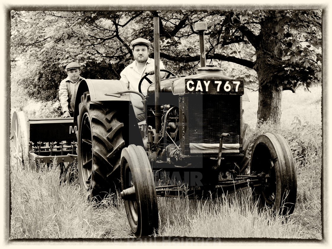"""1940's English farm scene"" stock image"