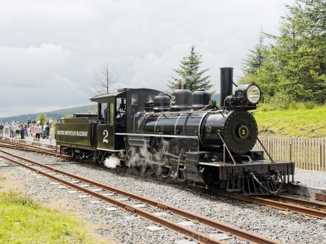"""Brecon Mountain Railway"" stock image"