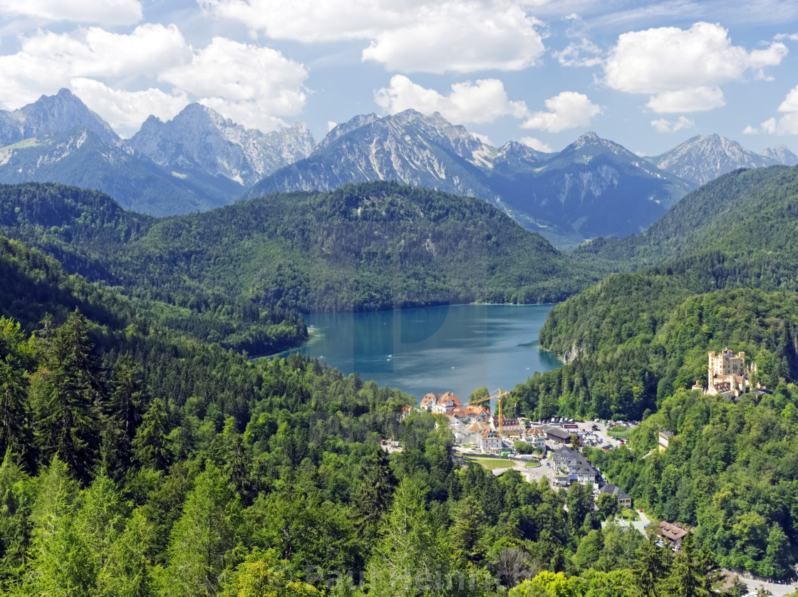 """Hoenschwangau and Alpsee"" stock image"