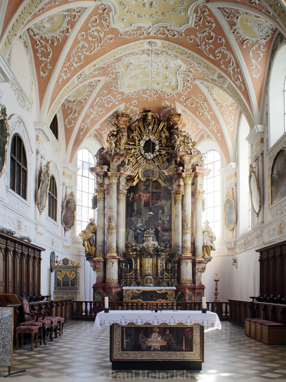 """Mindelheim Jesuit Church 2"" stock image"
