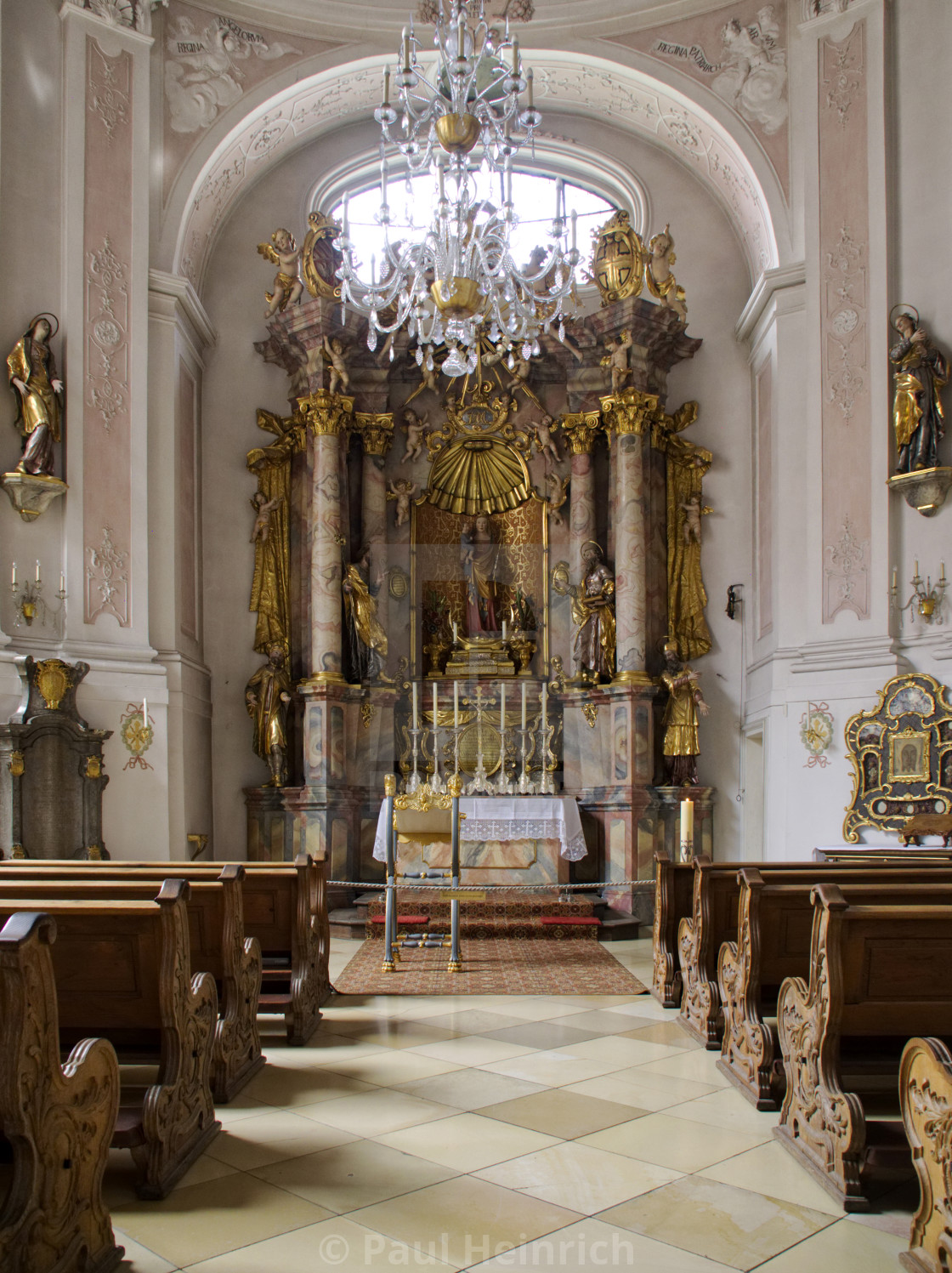 """The Lady Chapel in Augsburg Cathedral"" stock image"
