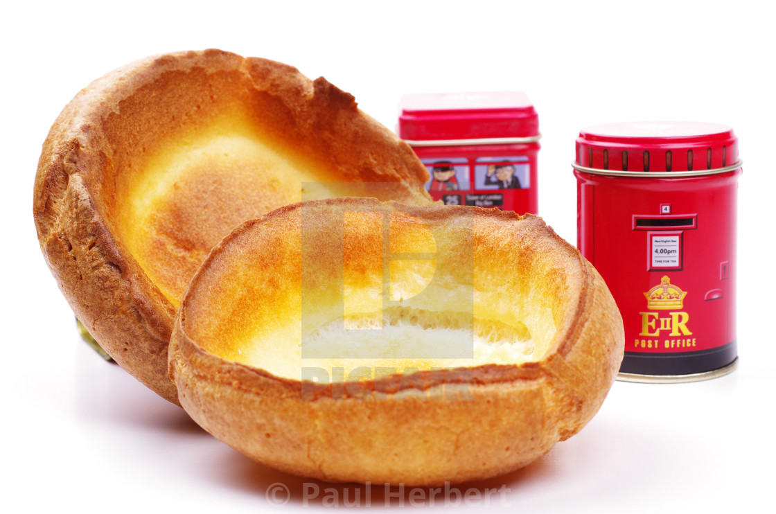 """two english yorkshire puddings"" stock image"