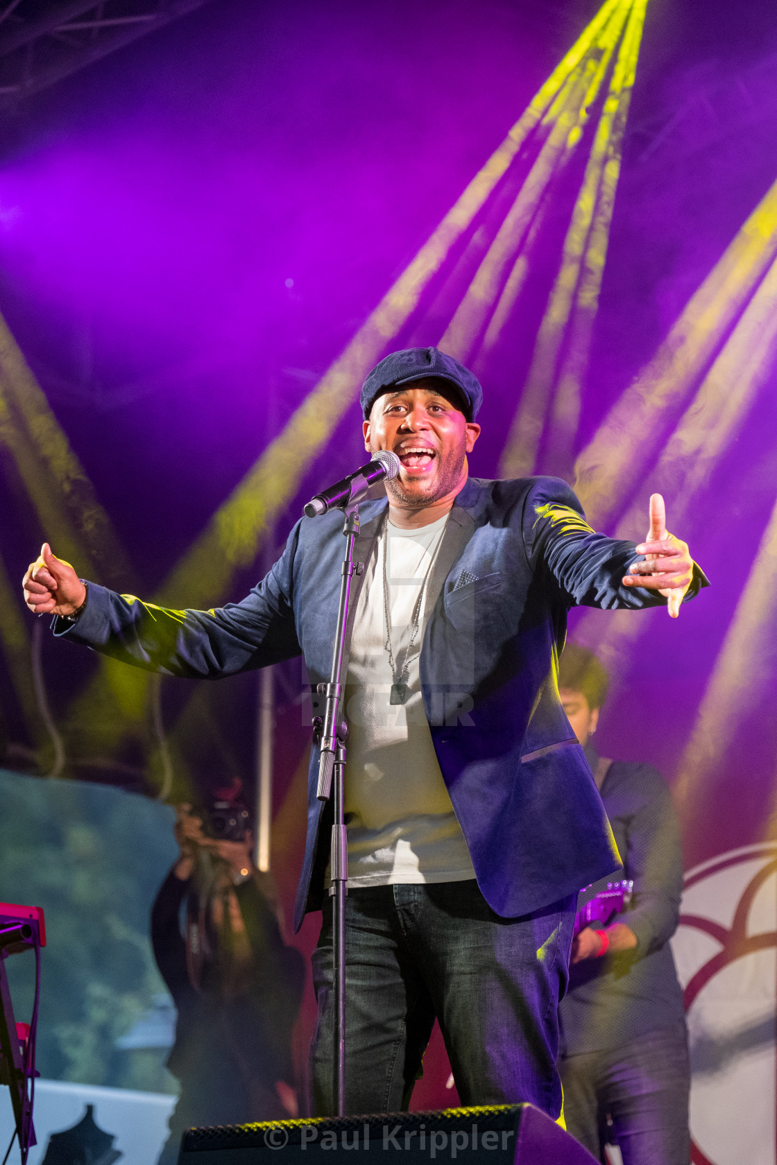 """Tony Momrelle at the Blues'n Jazz Rallye 2018 in Luxembourg."" stock image"
