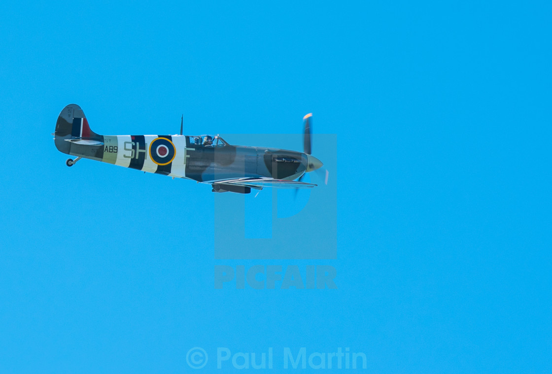 """""""Lone Spitfire"""" stock image"""