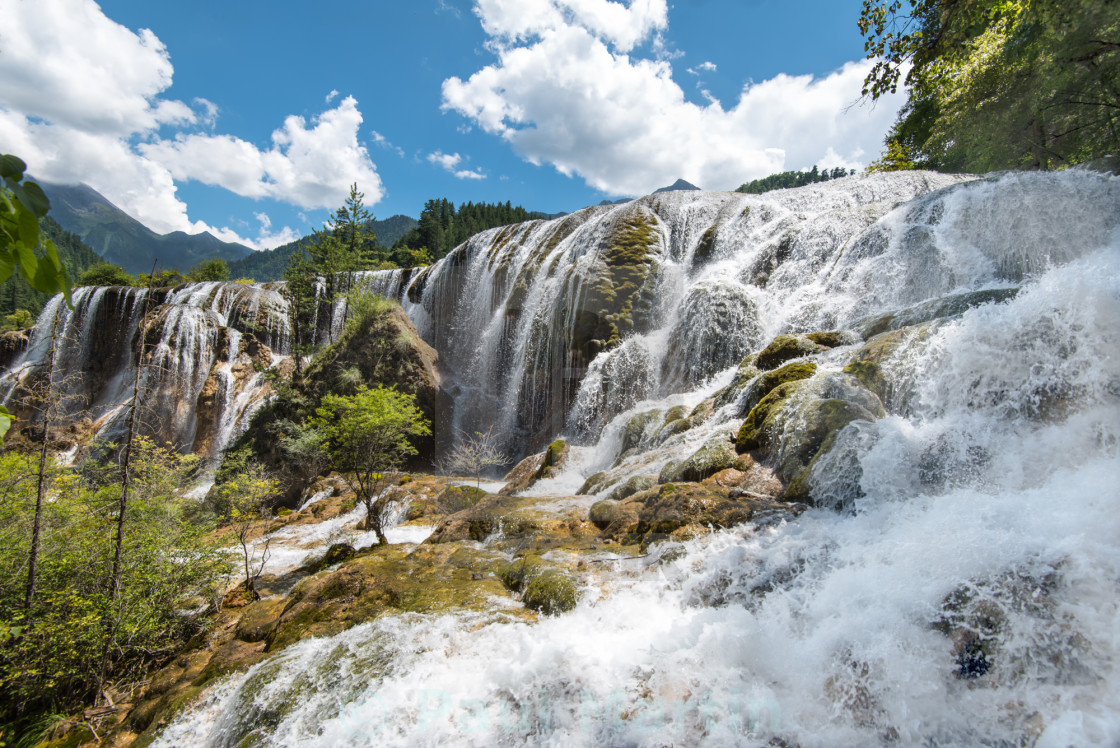 """Pearl Shoal Waterfall"" stock image"
