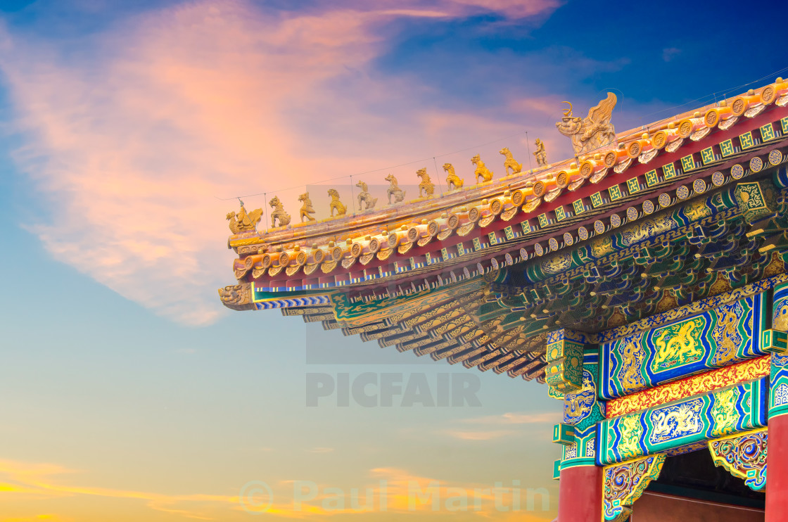 """Roof of the Hall of Supreme Harmony"" stock image"