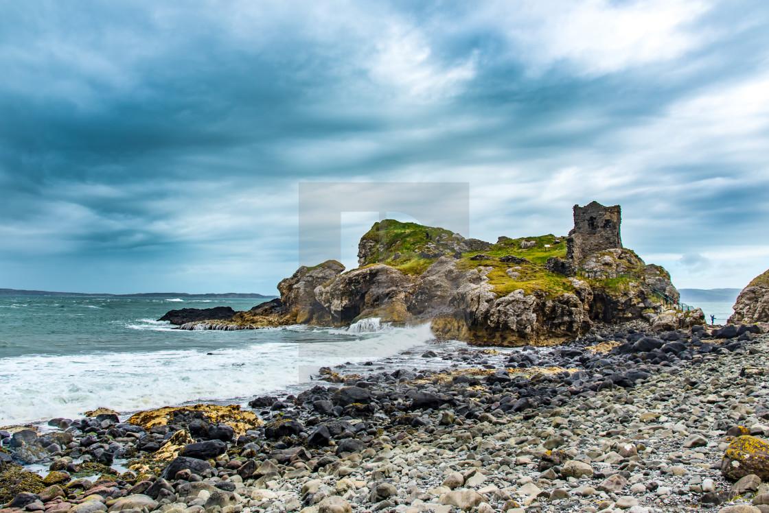 """Kinbane Castle"" stock image"