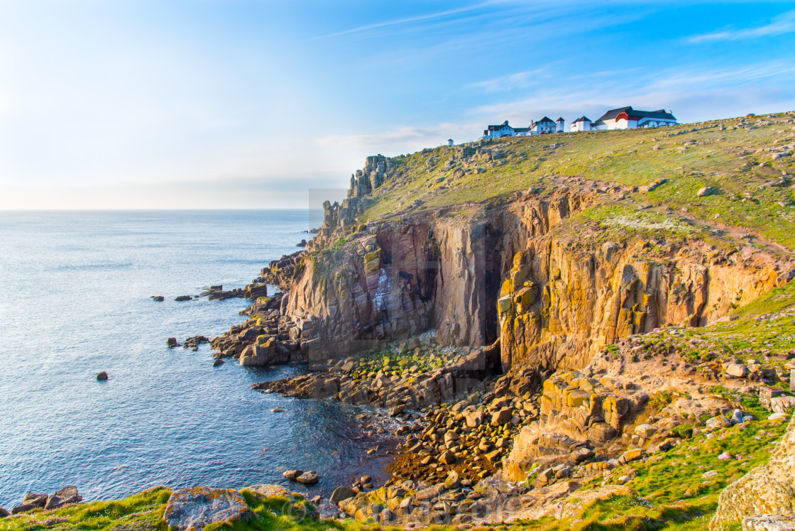 """Lands End, Cornwall"" stock image"
