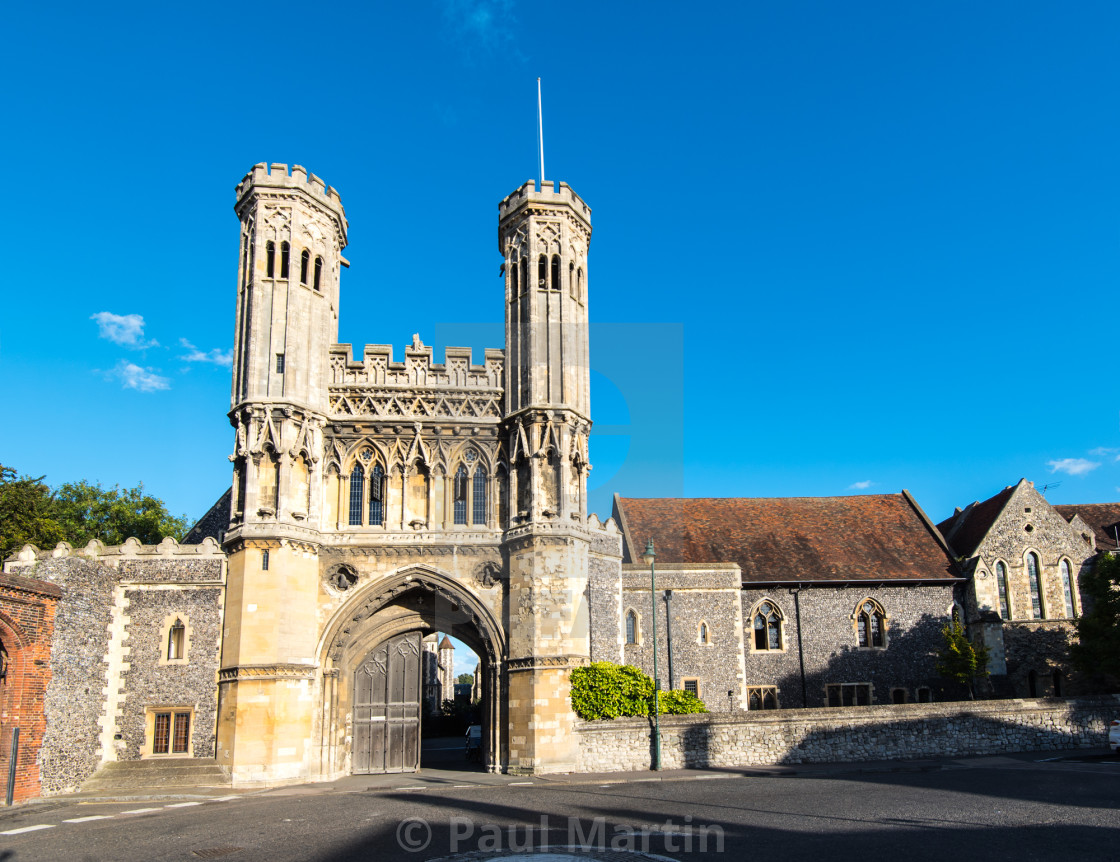 """Abbot Fyndon´s Great Gate."" stock image"