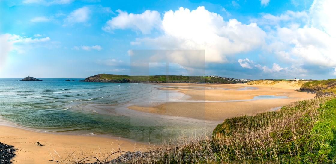 """""""Crantock Beach"""" stock image"""
