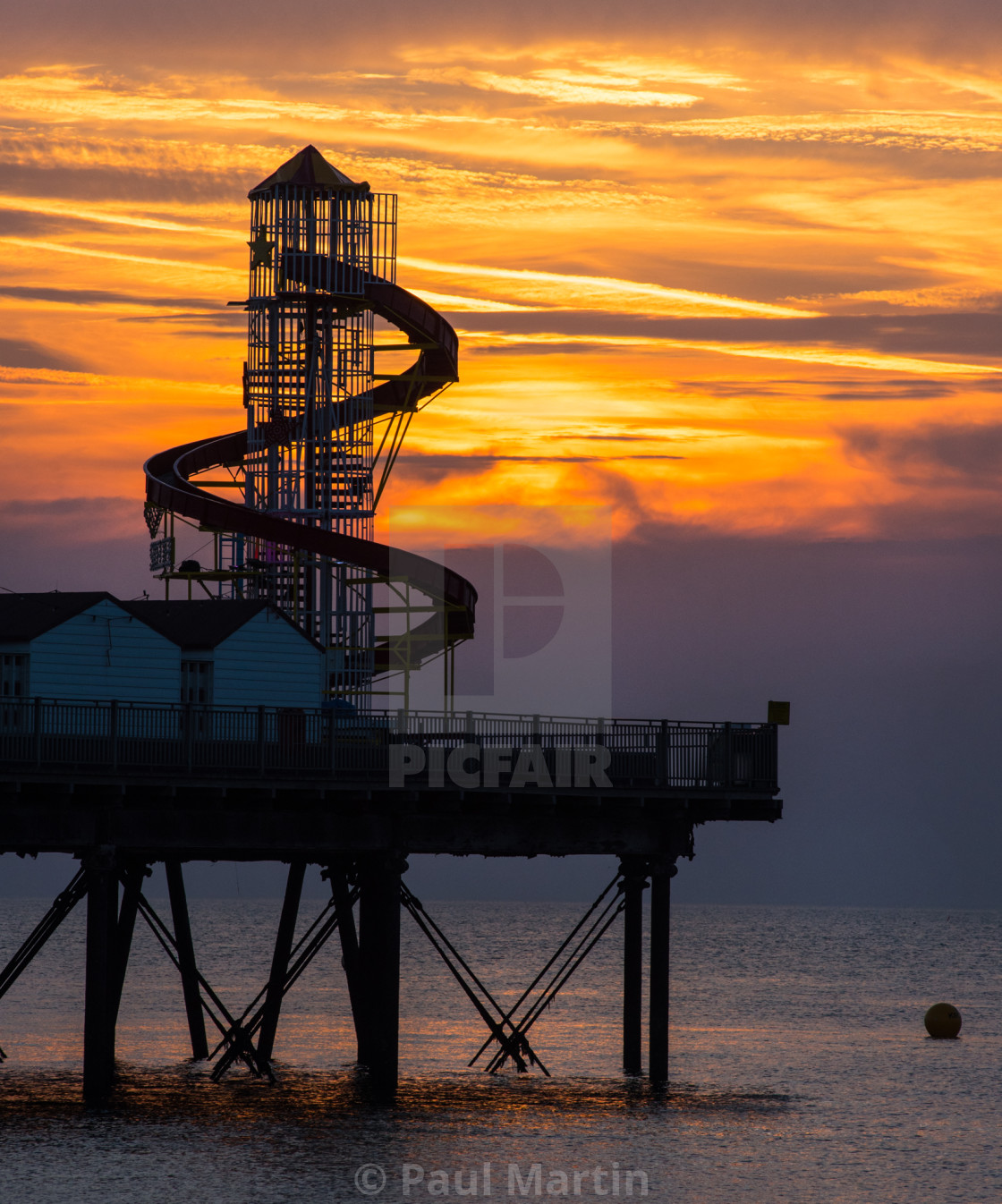 """Sunset at Herne Bay"" stock image"