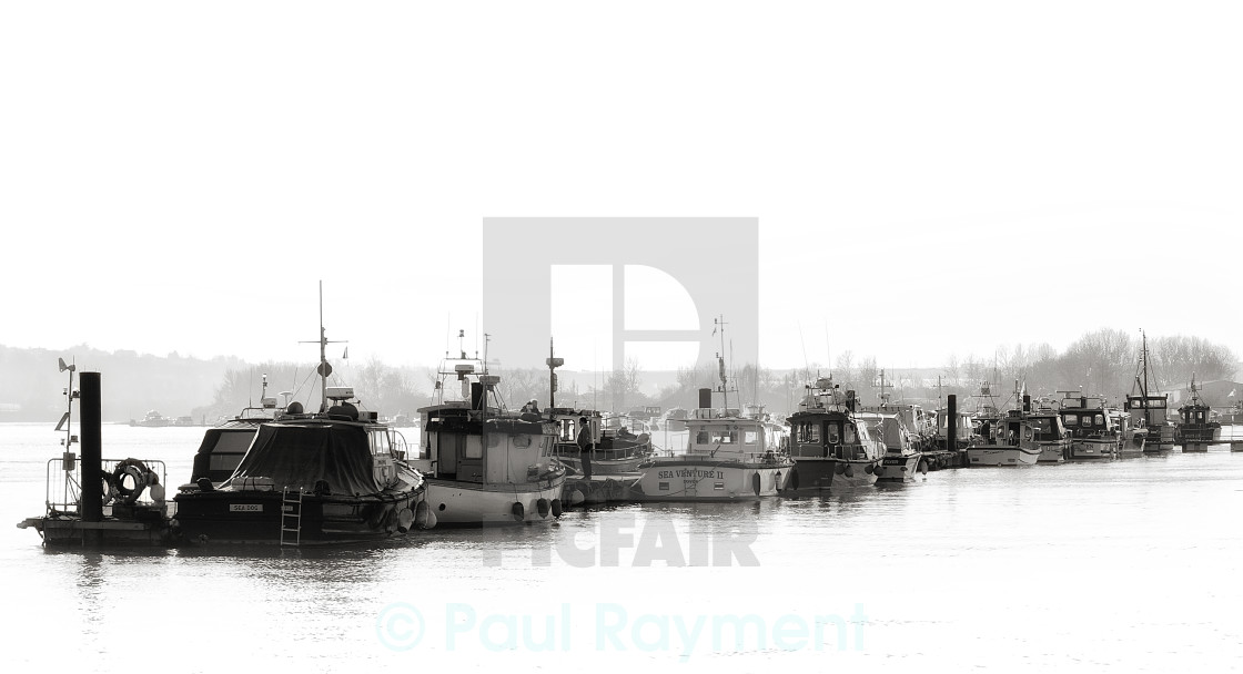 """""""Boats on the Medway"""" stock image"""