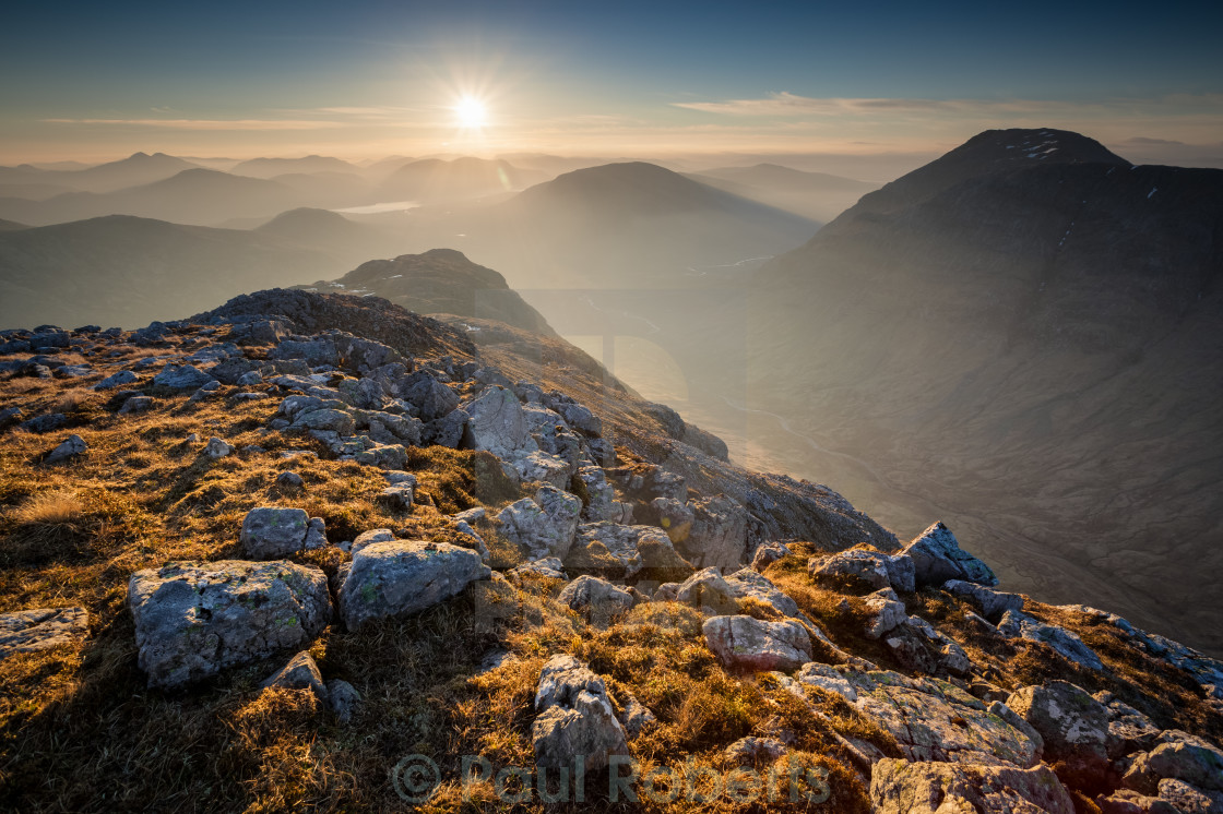 """Glencoe Sunrise"" stock image"