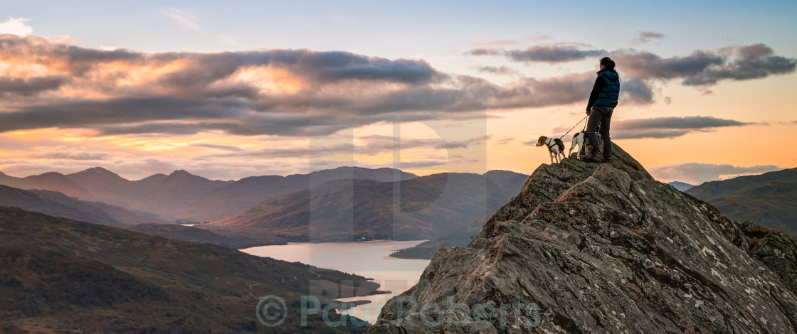 """On top of the world"" stock image"