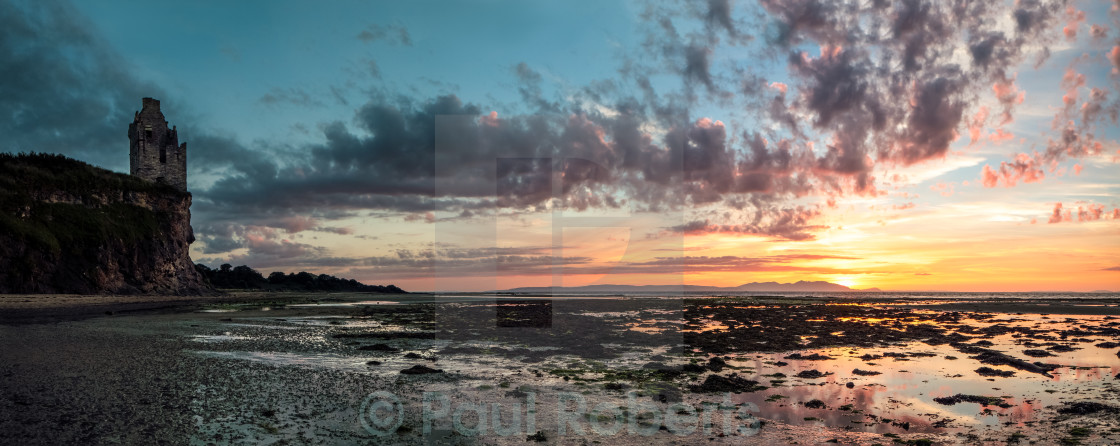 """Greenan Castle Sunset"" stock image"