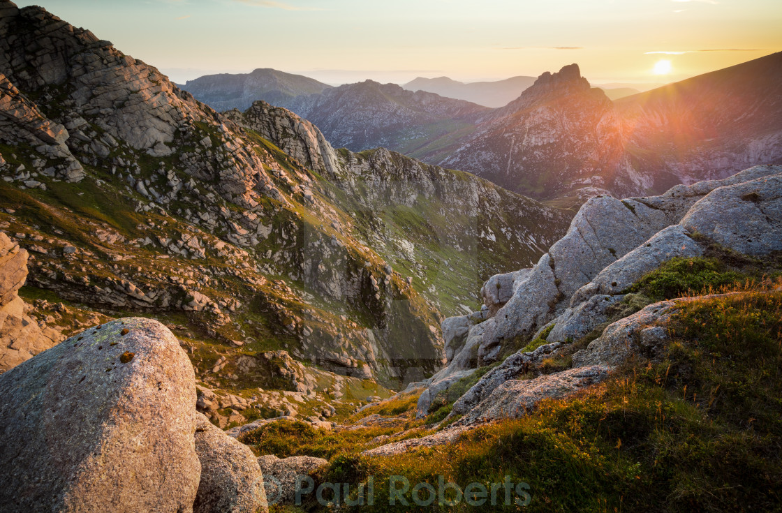 """Cir Mhor from Goatfell"" stock image"