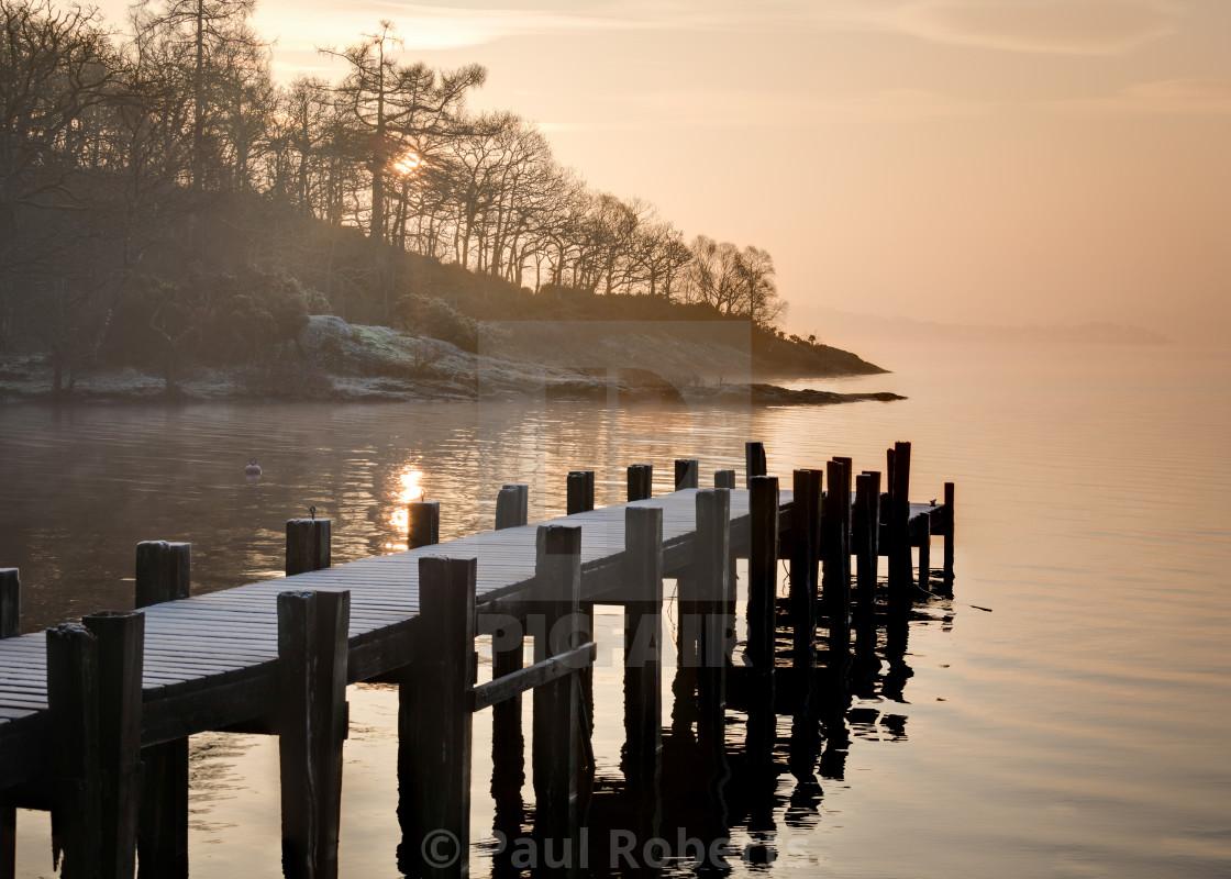 """Loch Lomond Jetty"" stock image"