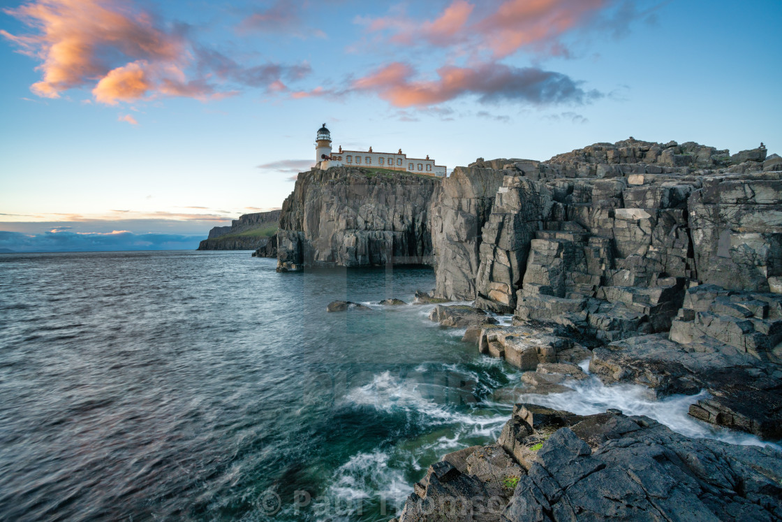 """Neist Point Lighthouse on the Isle of Skye Scotland"" stock image"