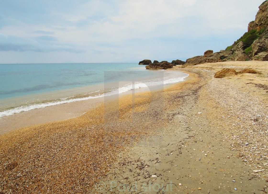 """A peaceful beach."" stock image"