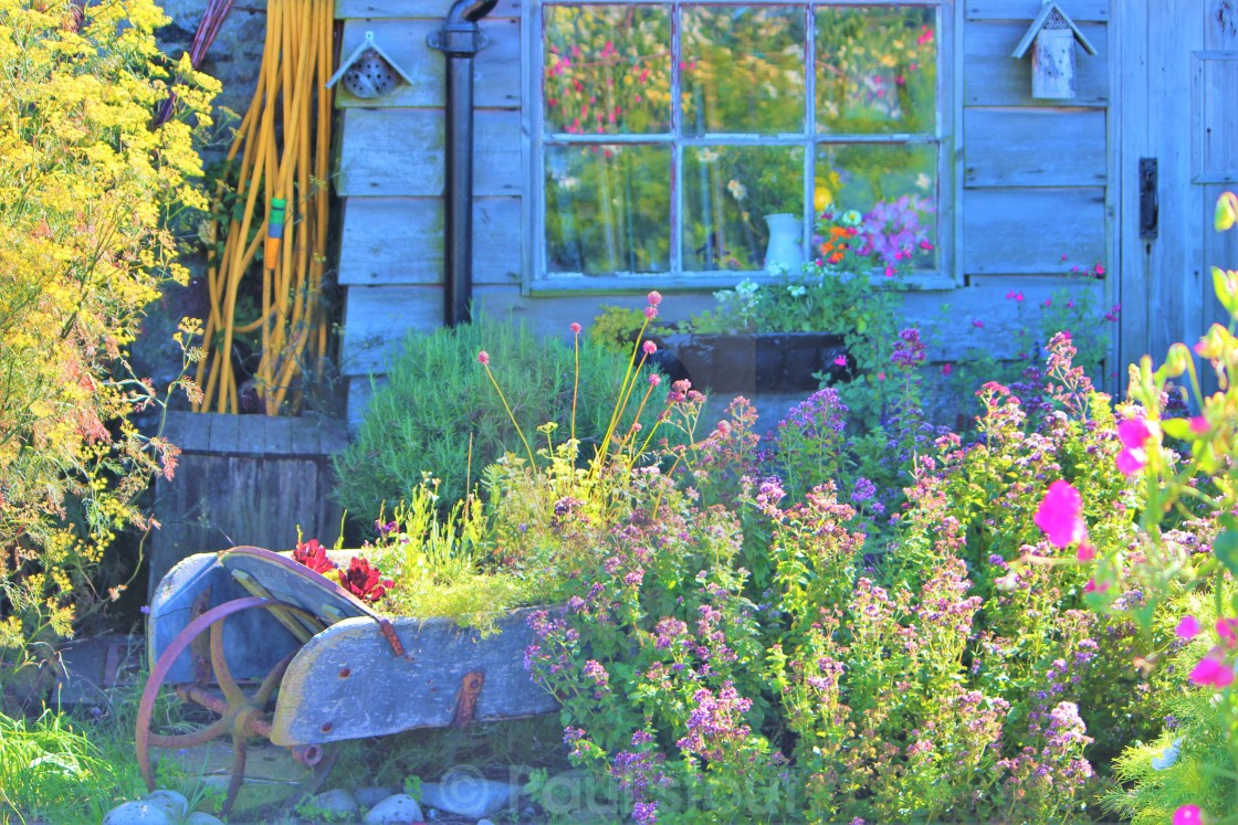 """Cottage Garden."" stock image"