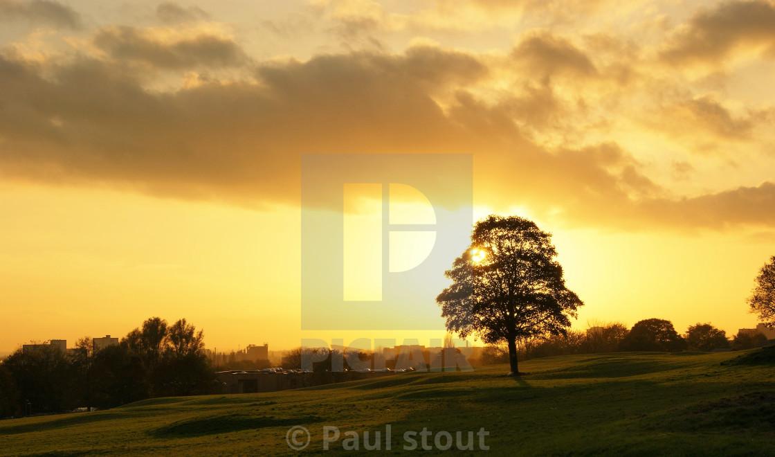 """Sunset."" stock image"