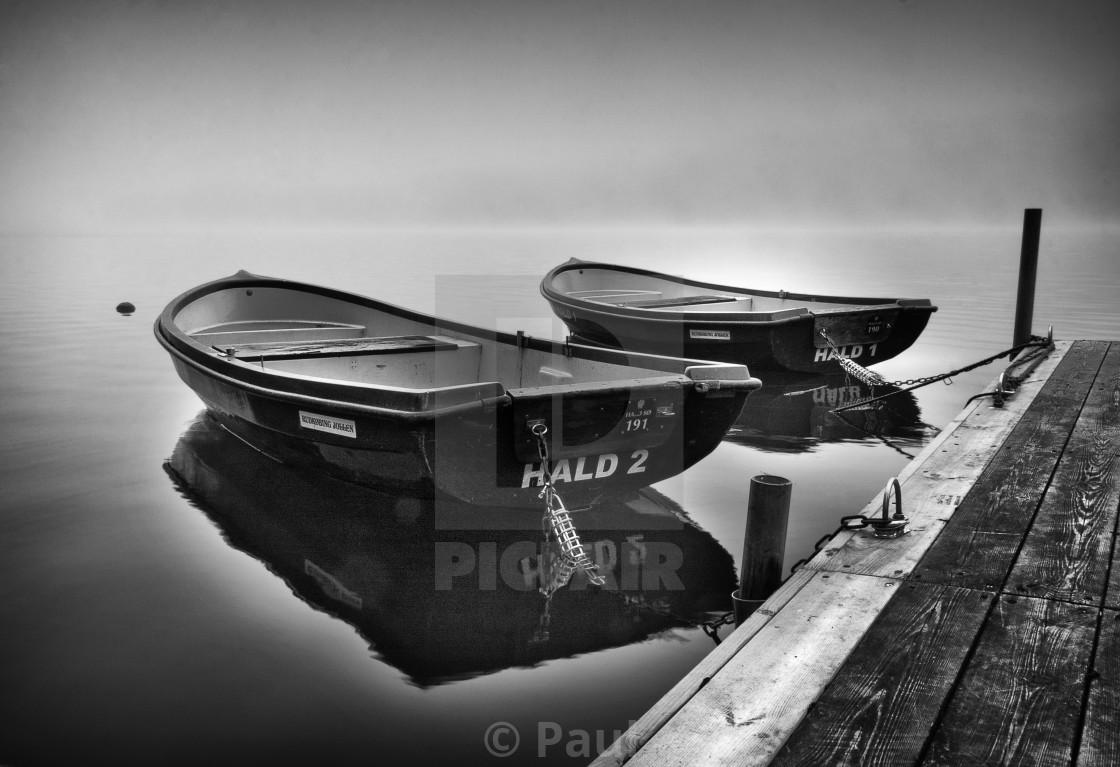 """""""Boats at Hald"""" stock image"""