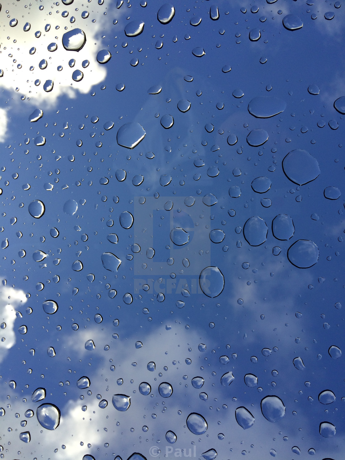 """3d Water Droplets on glass"" stock image"