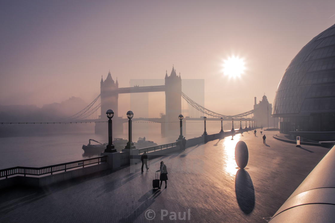 """Foggy Morning London"" stock image"
