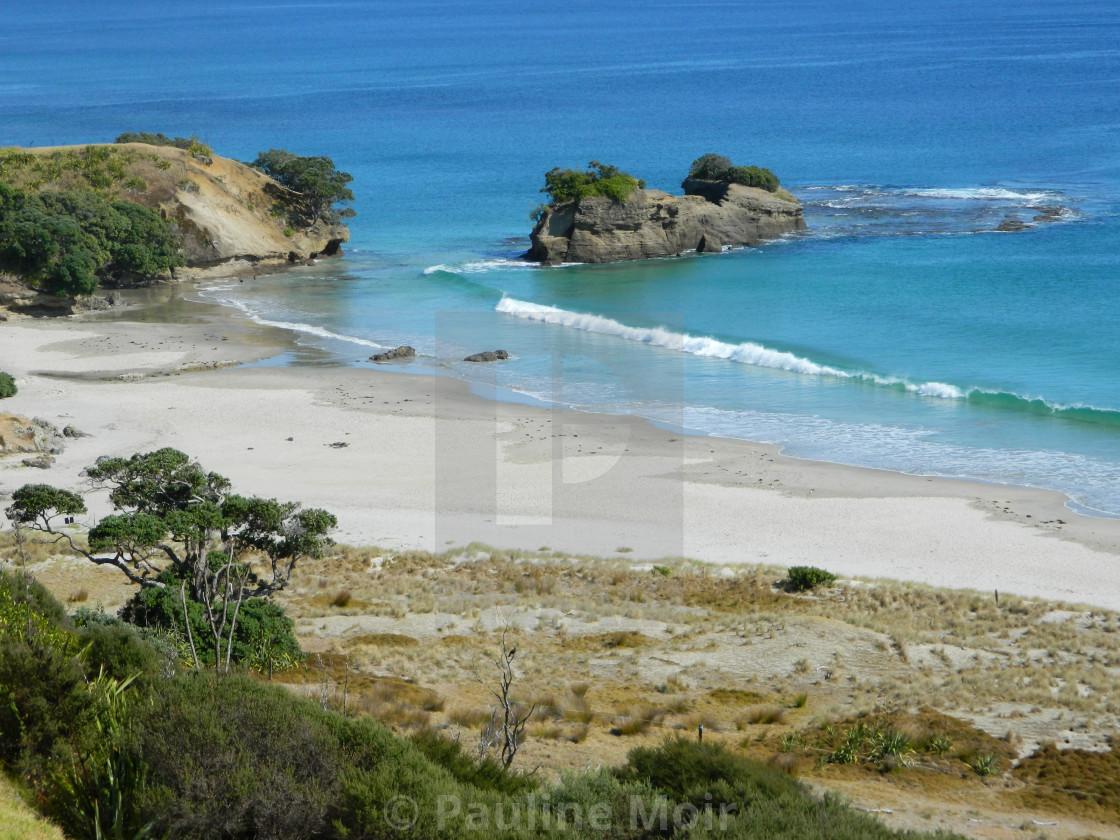 """Scenic NZ Image Coastal Beach"" stock image"